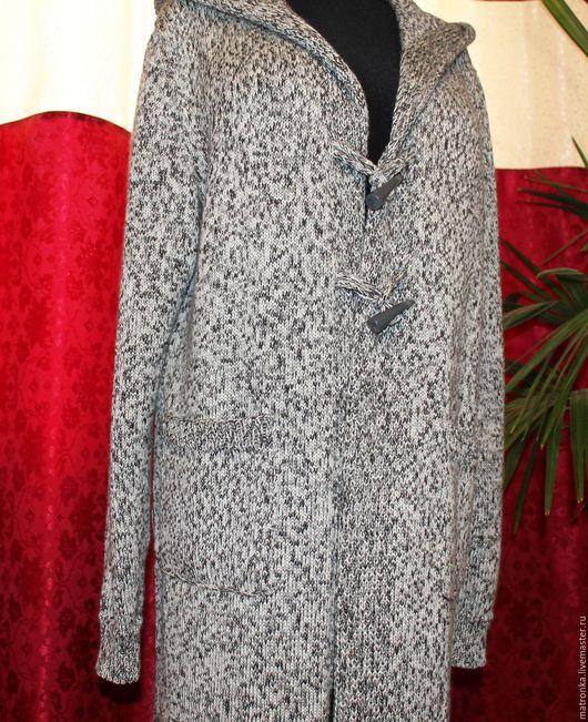 Верхняя одежда ручной работы. Ярмарка Мастеров - ручная работа. Купить Кардиган-пальто мужское. Handmade. Серый, кардиган вязаный
