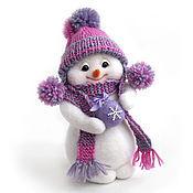 Подарки к праздникам ручной работы. Ярмарка Мастеров - ручная работа Снежка. Снеговик, снеговичок. Валяная игрушка.. Handmade.