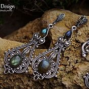 Украшения handmade. Livemaster - original item Demetria silver earrings Labradorite 925 silver. Handmade.