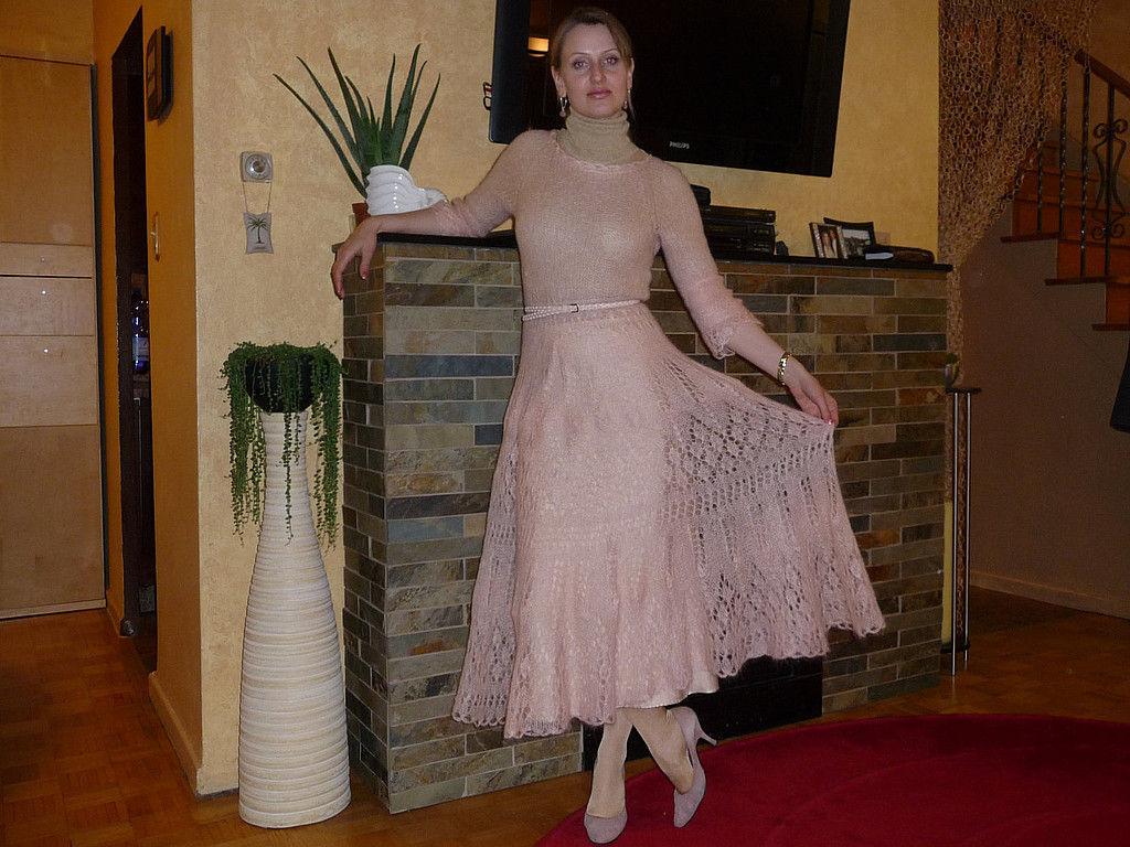 Вязание мохерового платья 110