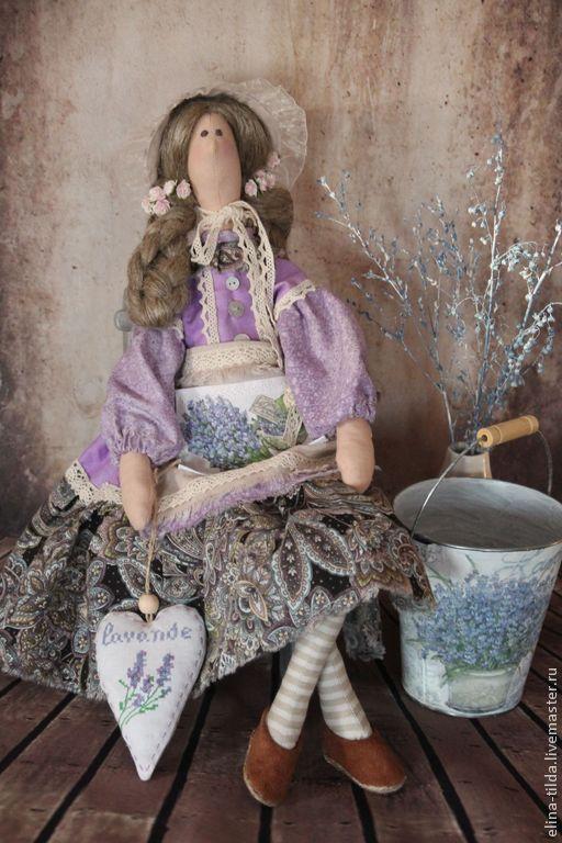 Куклы Тильды ручной работы. Ярмарка Мастеров - ручная работа. Купить Лавандовая фея тильда. Handmade. Сиреневый, романтичный подарок
