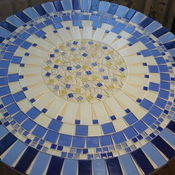 Для дома и интерьера handmade. Livemaster - original item Table pridivanny with a mosaic of