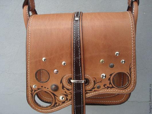 Женские сумки ручной работы. Ярмарка Мастеров - ручная работа. Купить торба  кожаная мечта. Handmade. Бежевый, рисунок