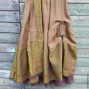 Одежда ручной работы. Ярмарка Мастеров - ручная работа №150.4 Юбка-бохо льняная двойная. Handmade.