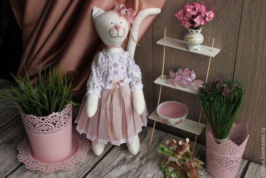 Куклы Тильды ручной работы. Ярмарка Мастеров - ручная работа. Купить Кошечка Люси. Handmade. Кошка, интерьер, единственный