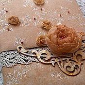 """Канцелярские товары ручной работы. Ярмарка Мастеров - ручная работа Блокнот """"Чайная роза"""". Handmade."""