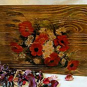 Картины и панно handmade. Livemaster - original item Panels brushed Summer bouquet. Handmade.