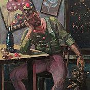 Картины ручной работы. Ярмарка Мастеров - ручная работа Двое не спят. Handmade.