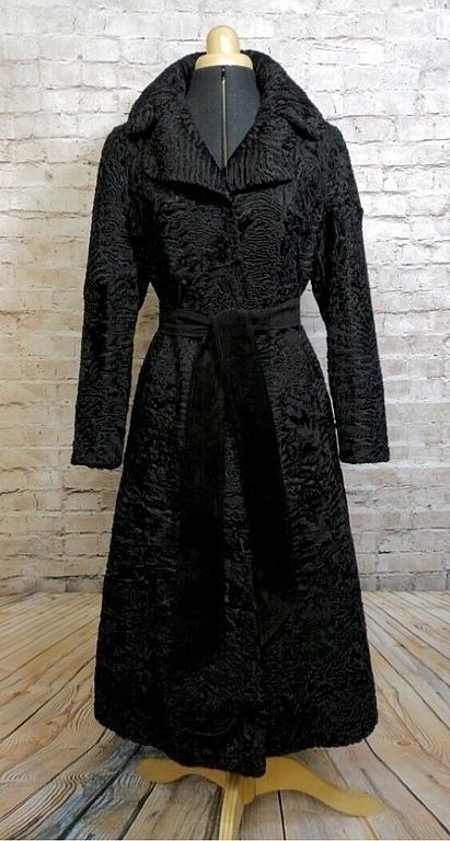 Верхняя одежда ручной работы. Ярмарка Мастеров - ручная работа. Купить Пальто из каракуля swakara. Handmade. Черный, swakara, зима