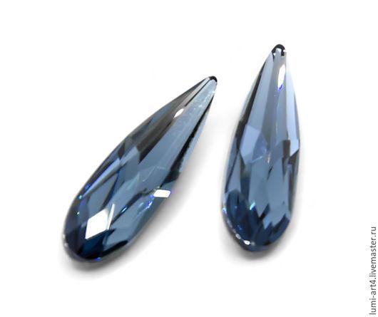 Для украшений ручной работы. Ярмарка Мастеров - ручная работа. Купить Raindrop 20мм Denim Blue (266) Длинные капли Сваровски (арт.4331). Handmade.
