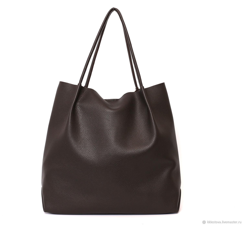 Brown Tote bag shopper Bag medium Chocolate, Tote Bag, Moscow,  Фото №1