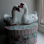 Свадебный салон ручной работы. Ярмарка Мастеров - ручная работа Лебединая пара. Handmade.