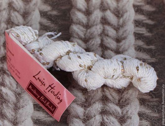 Вязание ручной работы. Ярмарка Мастеров - ручная работа. Купить Пряжа Louisa Harding. Handmade. Белый, пряжа для ручного вязания
