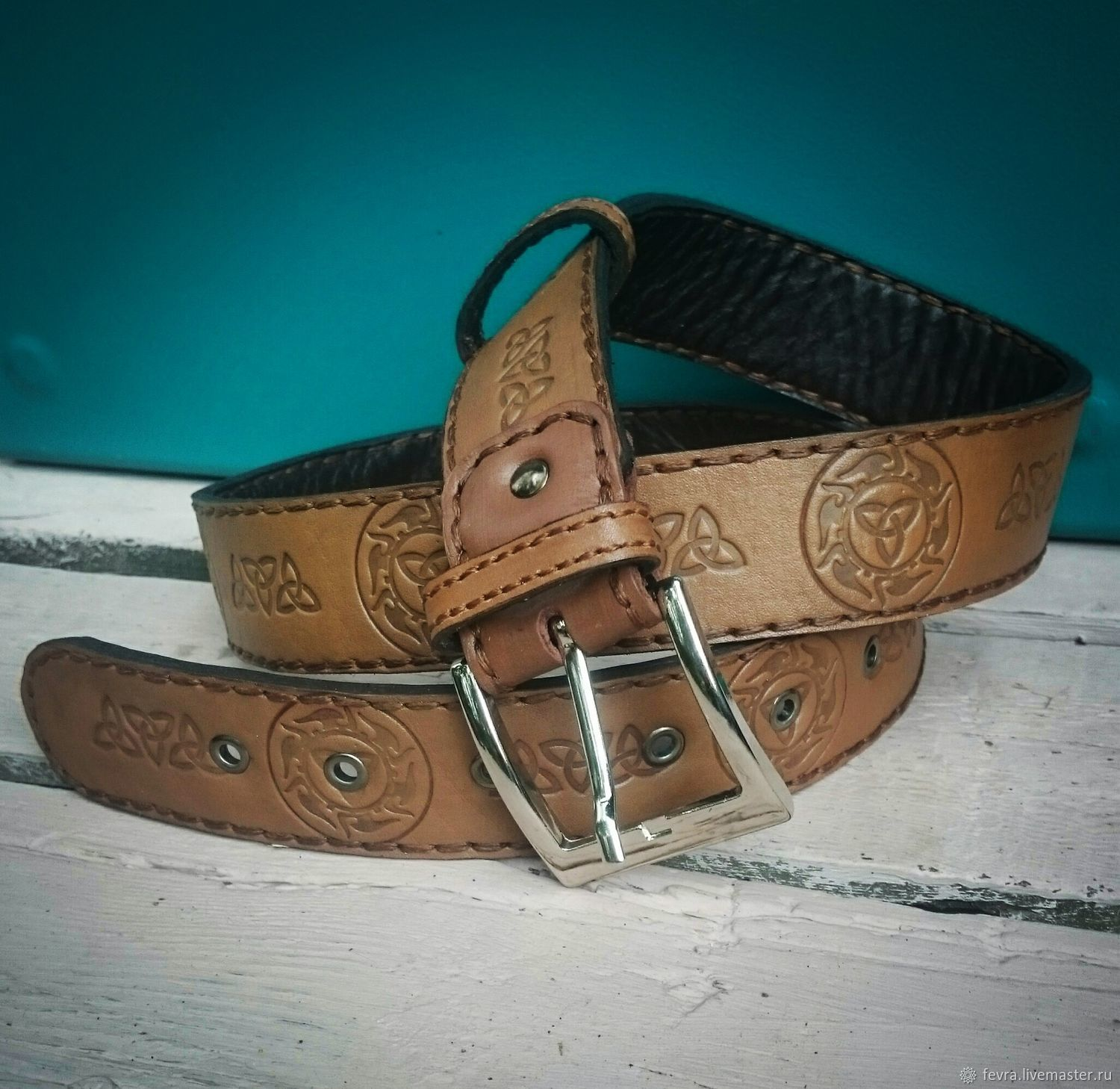 Beautiful, reliable handmade belt is perfect for jeans.
