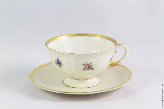 Винтажная посуда. Ярмарка Мастеров - ручная работа. Купить Чайная (кофейная) пара, Германия. Handmade. Комбинированный, немецкий фарфор