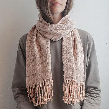 Accessories handmade. Livemaster - original item Hand Woven and Hand Dyed Scarf Karen (100% Organic Cotton). Handmade.