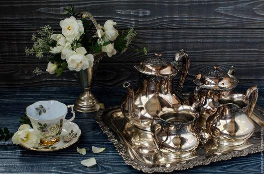 Винтажная посуда. Ярмарка Мастеров - ручная работа. Купить Набор для чая или кофе, посеребрение.. Handmade. Серебряный, чайник