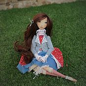 Куклы и игрушки handmade. Livemaster - original item Amelia. Fabric Doll Collectible Art Doll BJD OOAK. Handmade.