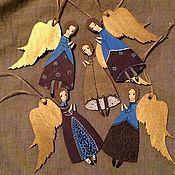 Подарки к праздникам ручной работы. Ярмарка Мастеров - ручная работа Ангелок на елку - фиолетовый. Handmade.
