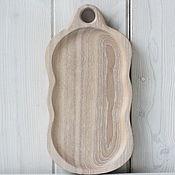 Сувениры и подарки handmade. Livemaster - original item Small Board for serving meat, Burger, cheese. white. Handmade.