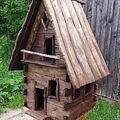 Для дома и интерьера ручной работы. Ярмарка Мастеров - ручная работа деревянная избушка. Handmade.