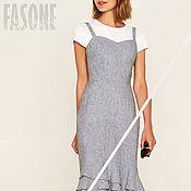 Одежда handmade. Livemaster - original item dresses: Grey dress-sundress with flounce. Handmade.