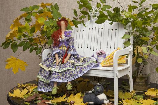 Коллекционные куклы ручной работы. Ярмарка Мастеров - ручная работа. Купить леди Фиона. Handmade. Тёмно-фиолетовый, хлопок 100%