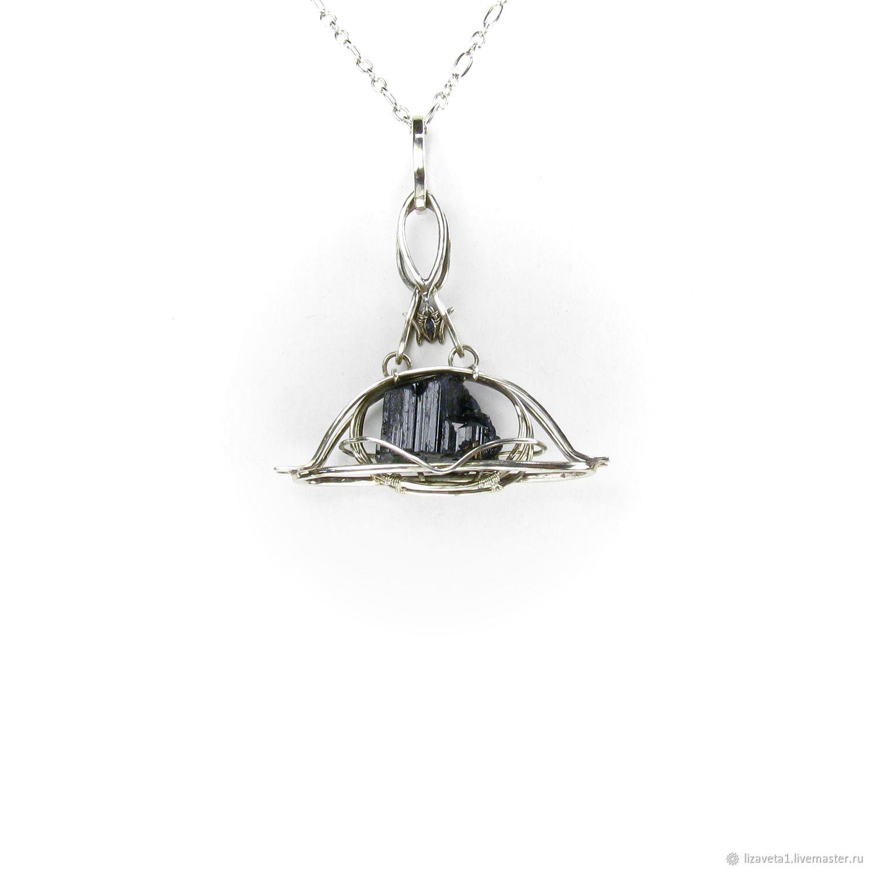 Pendant with tourmaline pendant black tourmaline sherl amulet protection, Pendants, Moscow,  Фото №1