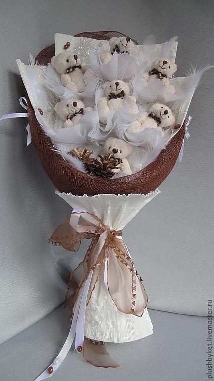 Подарки на свадьбу ручной работы. Ярмарка Мастеров - ручная работа. Купить Букет из игрушек  С Рождеством. Handmade. Белый, мишки