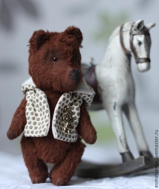 Мишки Тедди ручной работы. Ярмарка Мастеров - ручная работа. Купить Мишка Гарри. Handmade. Коричневый, шплинты, стеклянные глаза