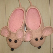 Обувь ручной работы. Ярмарка Мастеров - ручная работа Тапочки Мышатки. Handmade.