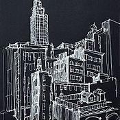 Картины и панно handmade. Livemaster - original item Sketch new York graphics. Handmade.
