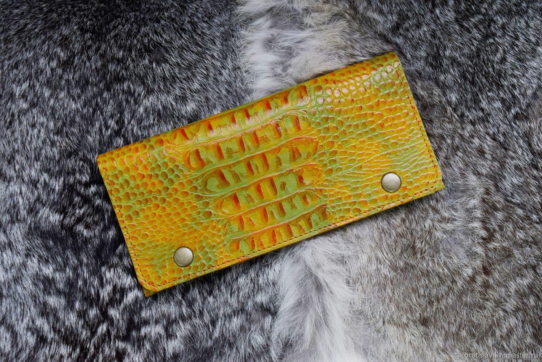 Кошелёк Жёлтый крокодил, Кошельки, Ставрополь,  Фото №1