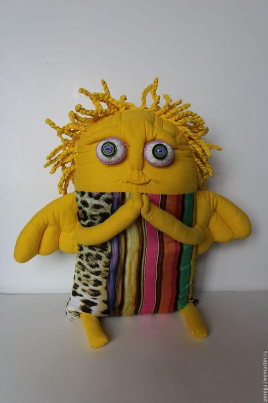 Подарки на Пасху ручной работы. Ярмарка Мастеров - ручная работа. Купить жёлтый ангел (подушка). Handmade. Желтый, мягкая игрушка