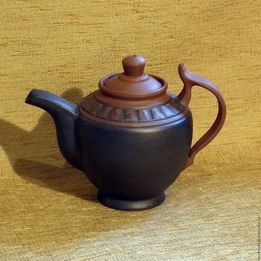 """Чайники, кофейники ручной работы. Ярмарка Мастеров - ручная работа. Купить чайник """"гостевой"""". Handmade. Коричневый, чайник"""