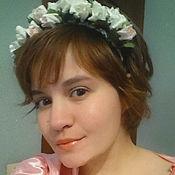 """Свадебный салон ручной работы. Ярмарка Мастеров - ручная работа Ободок с цветами """"Светлые розы"""". Handmade."""
