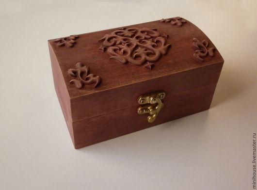 Шкатулки ручной работы. Ярмарка Мастеров - ручная работа. Купить Шкатулка деревянная. Handmade. Бежевый, подарок девушке, шкатулка