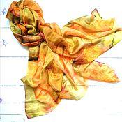 Аксессуары handmade. Livemaster - original item Batik scarf Gold desert, beautiful stole.. Handmade.