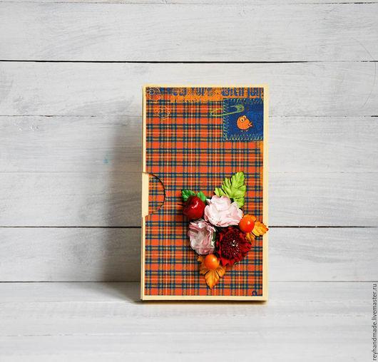 """Персональные подарки ручной работы. Ярмарка Мастеров - ручная работа. Купить Шоколадница """"Осенняя"""". Handmade. Разноцветный, шоколадница, кардсток"""