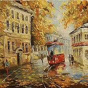 Картины и панно ручной работы. Ярмарка Мастеров - ручная работа красный трамвайчик. Handmade.
