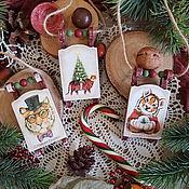 Сувениры и подарки handmade. Livemaster - original item The year of the tiger: Sledding on the Christmas tree. symbol of the year.. Handmade.
