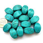 Материалы для творчества ручной работы. Ярмарка Мастеров - ручная работа Турквенит 15 камней набор бусины имитация бирюзы огранка. Handmade.
