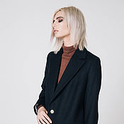 Одежда handmade. Livemaster - original item Black coat. Handmade.