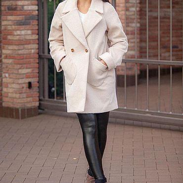 Одежда ручной работы. Ярмарка Мастеров - ручная работа Шерстяное осеннее пальто. Handmade.