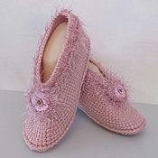 Аксессуары handmade. Livemaster - original item Knitted slippers, half-wool, a gift for a girl.. Handmade.