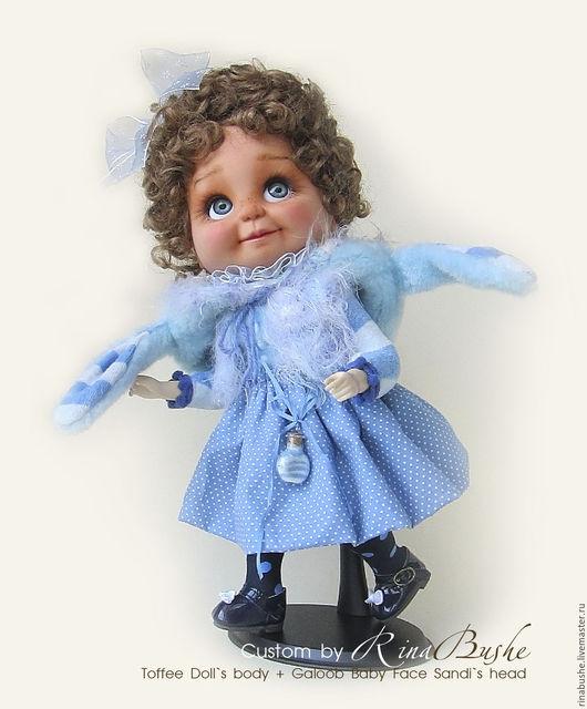 Коллекционные куклы ручной работы. Ярмарка Мастеров - ручная работа. Купить Кастомная кукла-гибрид Марина. Handmade. Голубой, sandi