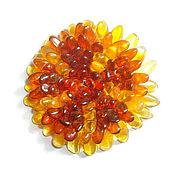 Украшения handmade. Livemaster - original item Amber flower brooch amber jewelry gift for girls woman. Handmade.
