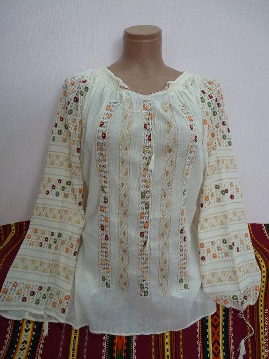 Блузки ручной работы. Ярмарка Мастеров - ручная работа. Купить Летняя блузка. Handmade. Комбинированный, блузка с вышивкой, вышивка на заказ