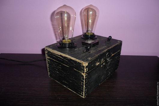 Освещение ручной работы. Ярмарка Мастеров - ручная работа. Купить лофт лампа N2. Handmade. Черный, индустриальный стиль