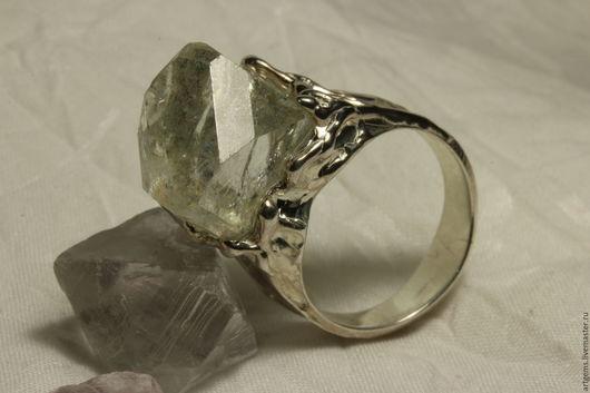 """Кольца ручной работы. Ярмарка Мастеров - ручная работа. Купить Кольцо с  топазом """"Лёд"""". Handmade. Кольцо с кристаллом, топаз"""